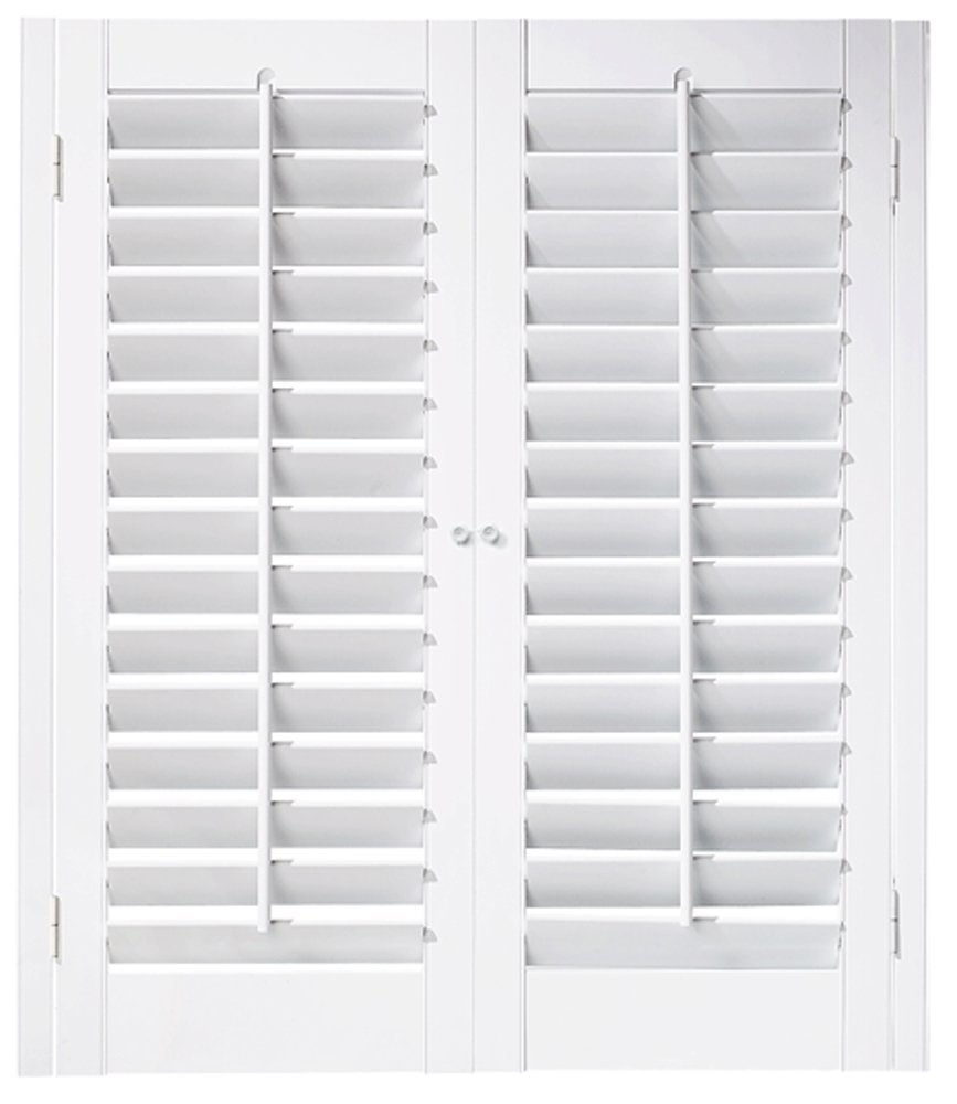 "Interior Shutter Kit 2 1/4"" Louver, Plantation Style (Paint Finish White, 23-25"" W x 36"" L)"