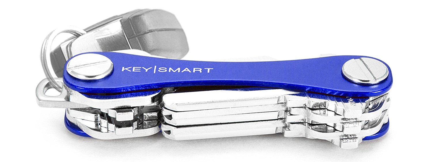 KeySmart - Compact Key Holder (2-10 Keys, Blue)