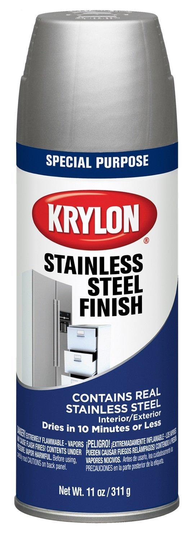 Krylon K02400000 Stainless Steel Finish Spray Paint, Stain Steel, 11 Ounce