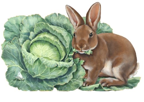 Mantel Decoration Fireplace Decor Hand Painted Decorative Free Standing Rabbit