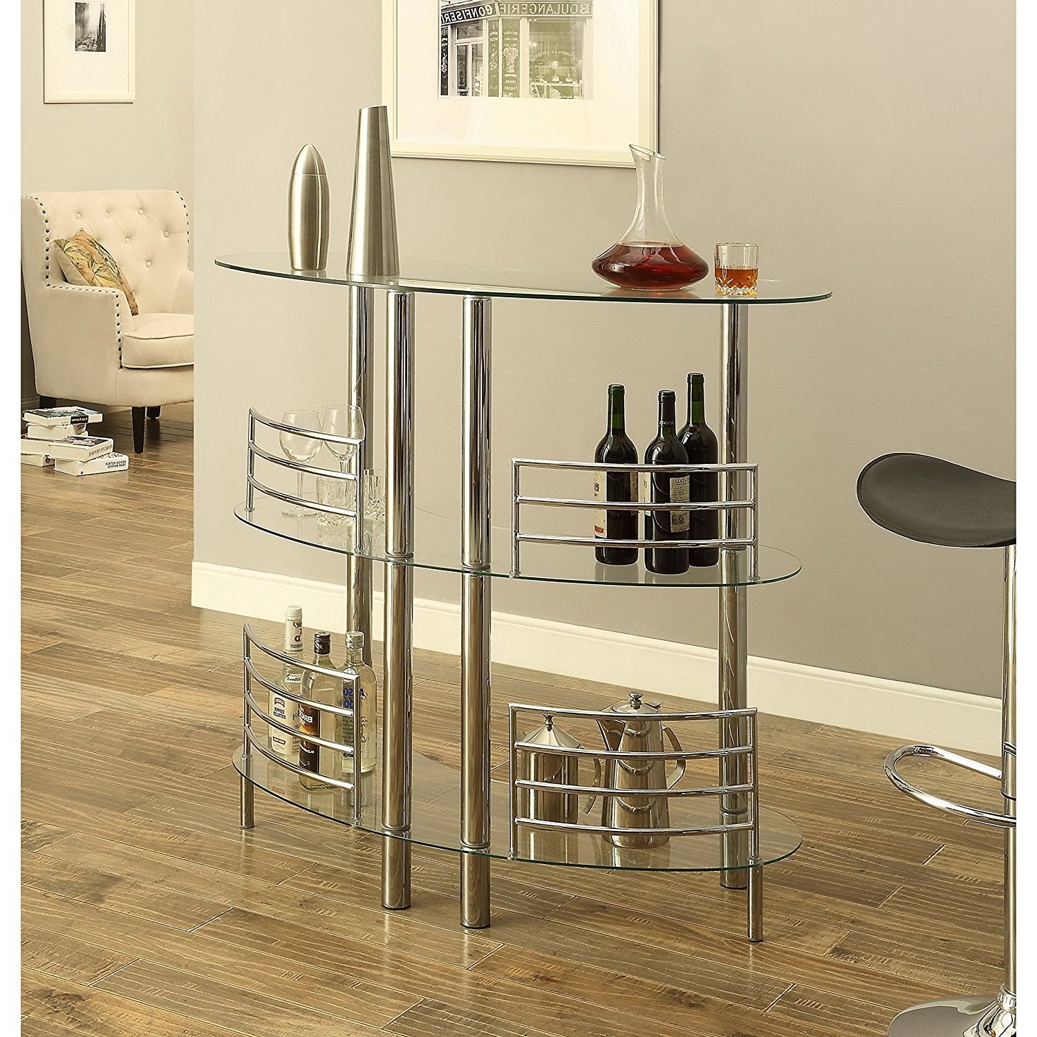 Millbury Home Arcadia Pub/Bar Table, Clear