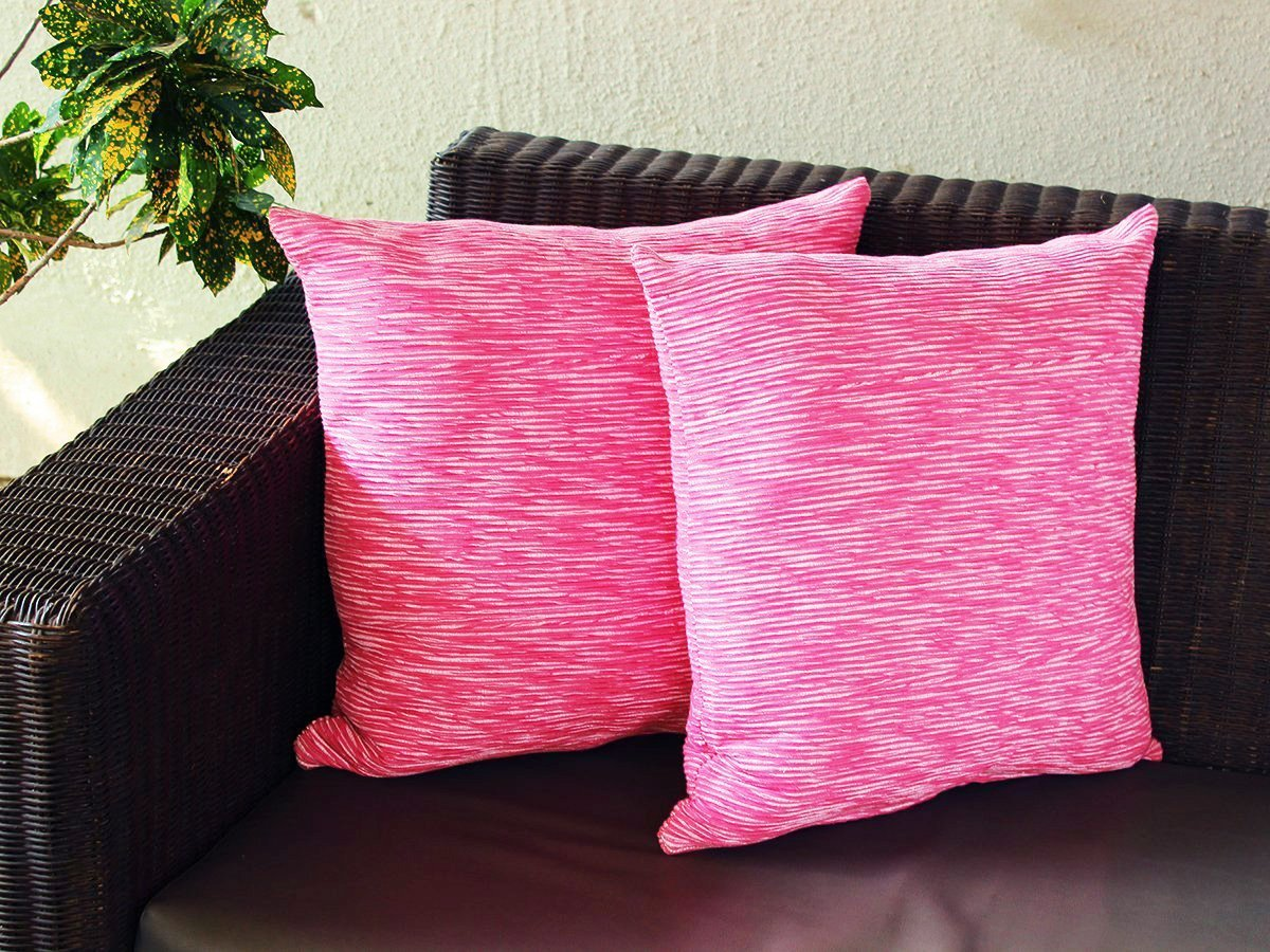 Mothers Day Gift Decorative Pink Throw Pillow Cushion Covers for Sofa 19 x19 Set of 2 Case 100% Cotton Ribbed Design Home Bedding Accessories