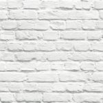 Muriva Painted White Brick Wallpaper