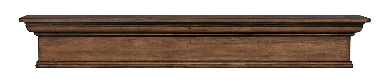 "Pearl Mantels 420-48-15 The Savannah Shelf or Mantel Shelf, 48"", Taos Finish"