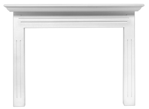 Pearl Mantels 510-48 Newport 48-Inch Fireplace Mantel Surround with Medium Density Fiberboard, White