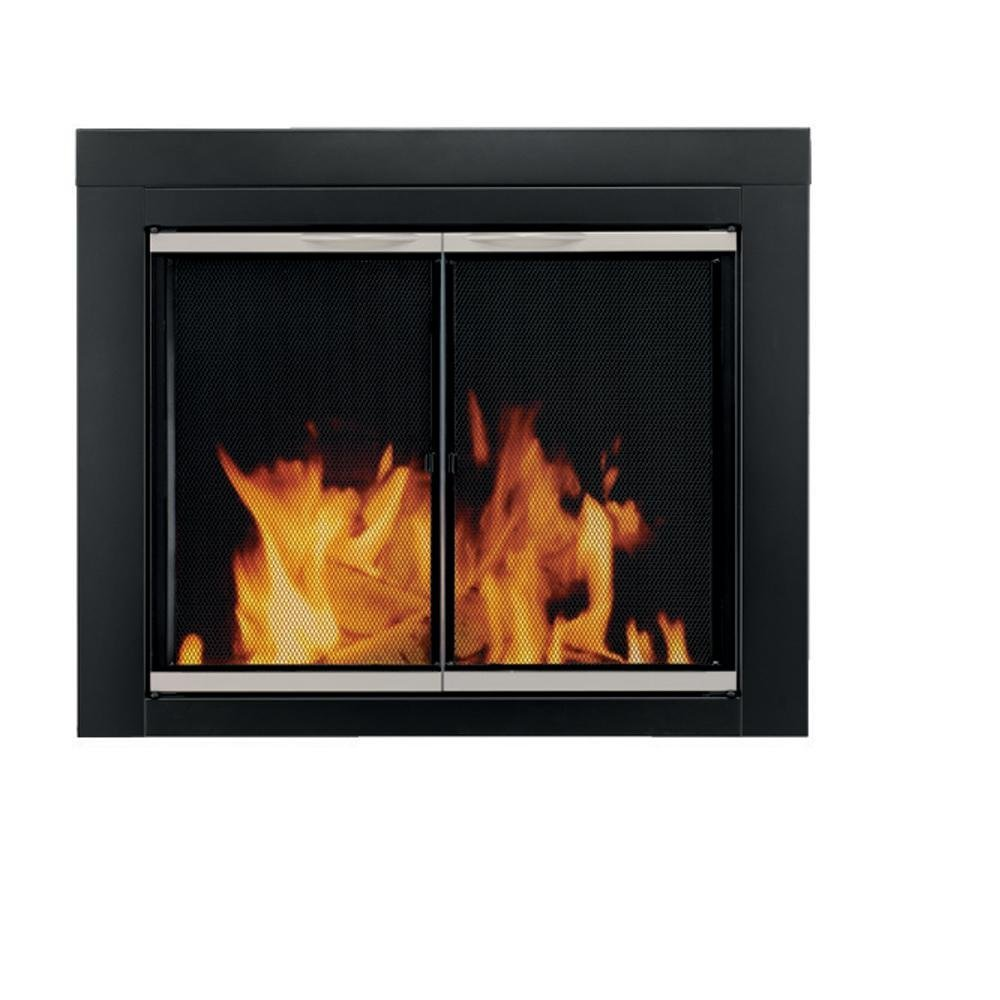 Pleasant Hearth AP-1132 Alsip Fireplace Glass Door, Large