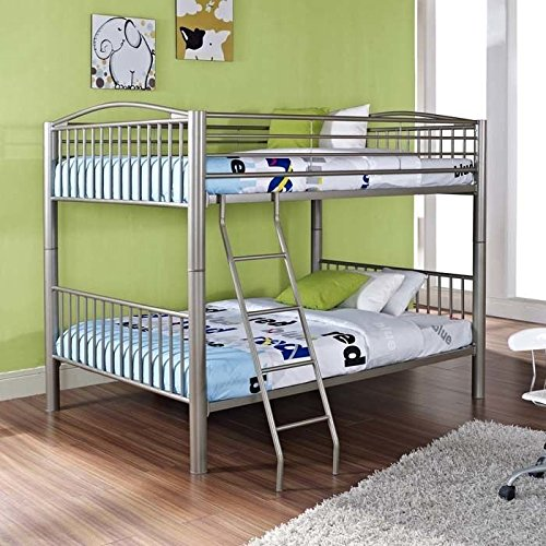 Powell Heavy Metal Full Over Full Bunk Bed