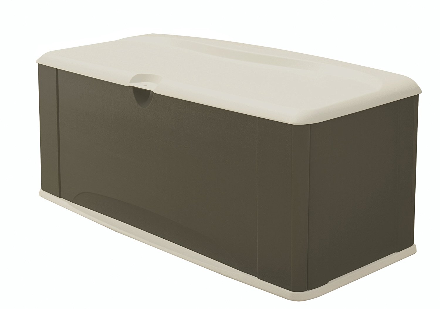 Rubbermaid Deck Box with Seat, Extra Large, 120 Gal., 16 cu. ft., Sandstone (5E39)