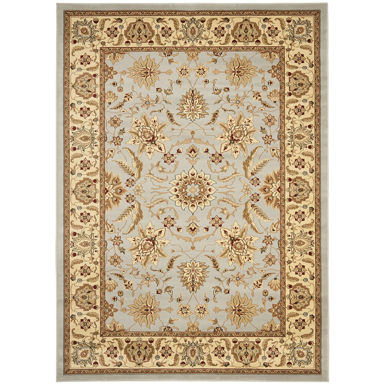"Safavieh Lyndhurst Collection LNH216G Traditional Oriental Grey and Beige Rectangle Area Rug (8'11"" x 12')"