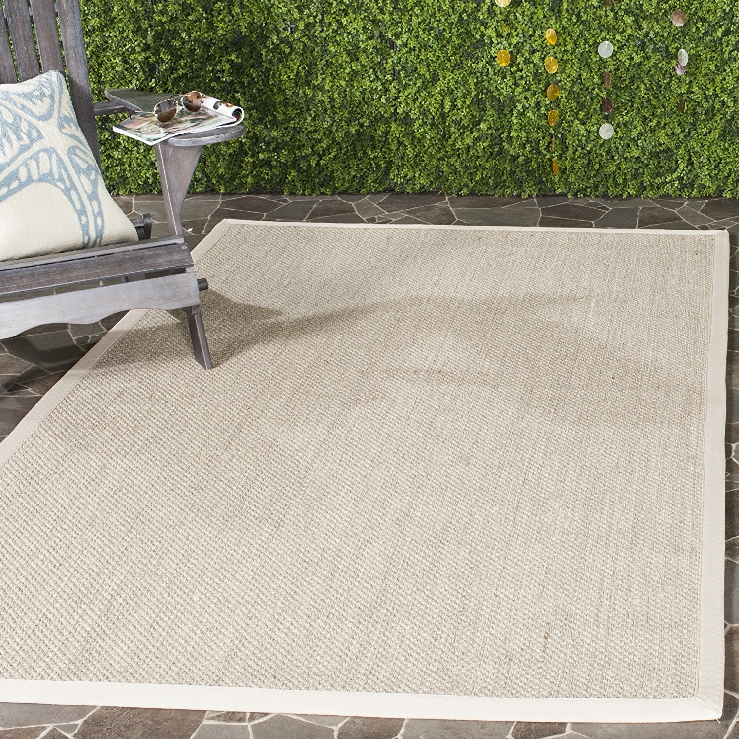 Safavieh Natural Fiber Collection NF143C Marble and Beige Sisal Area Rug (2' x 3')