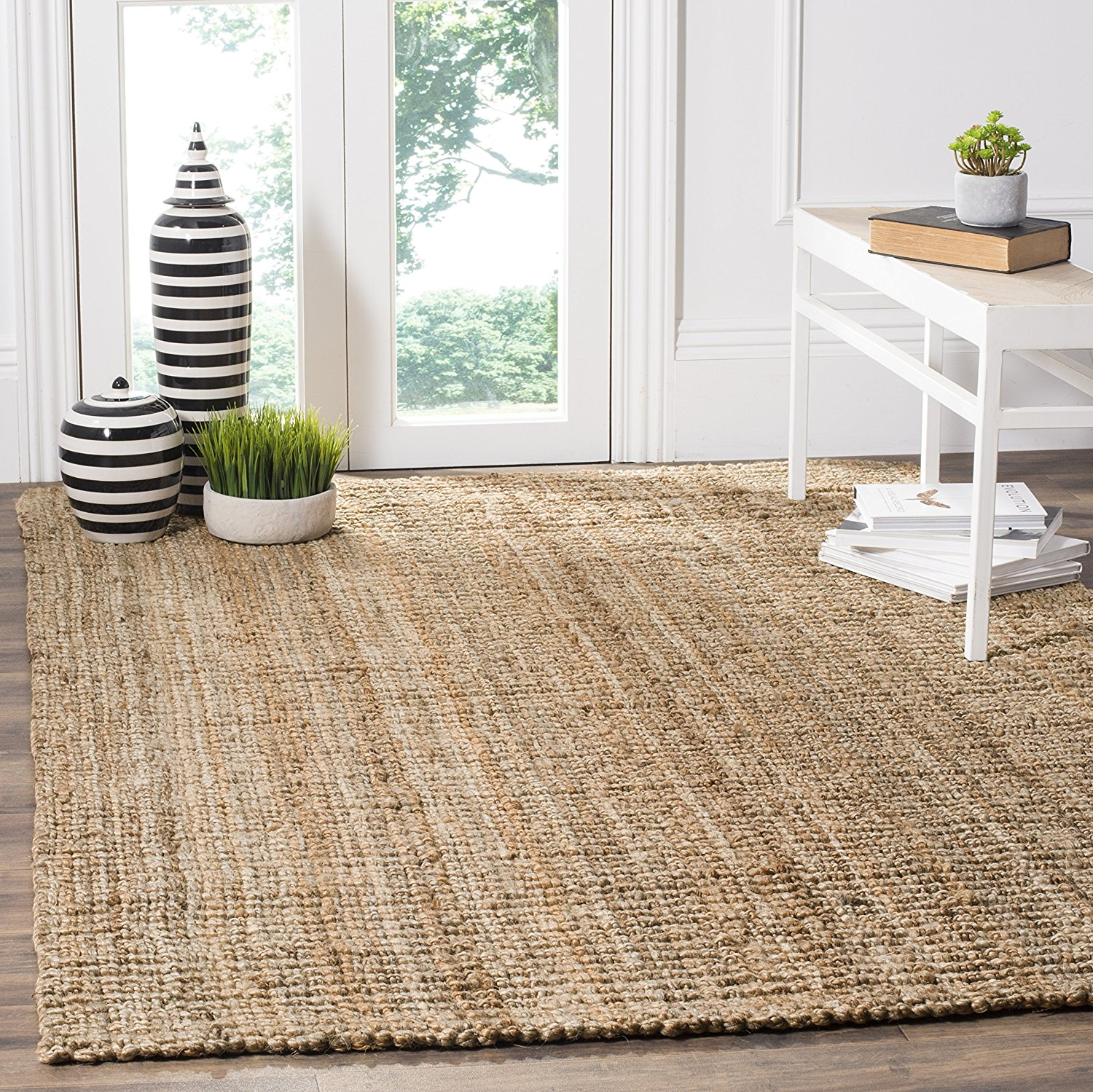 Safavieh Natural Fiber Collection NF447A Hand Woven Natural Jute Area Rug (8' x 10')