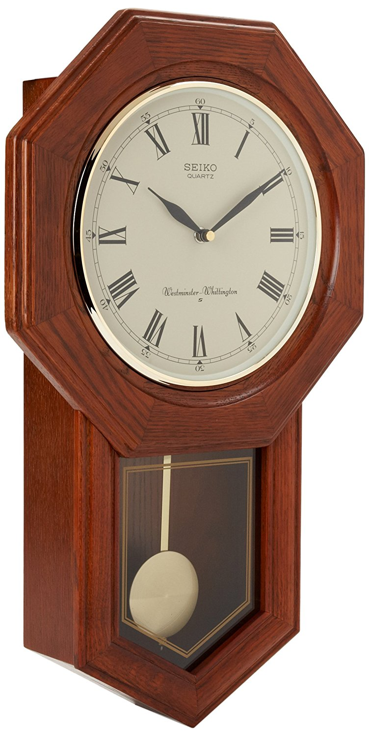 Seiko Pendulum Wall Clock With Best Mahogany Wood And