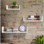 Shelving Solution Set of 3 Floating U Shelves (White)