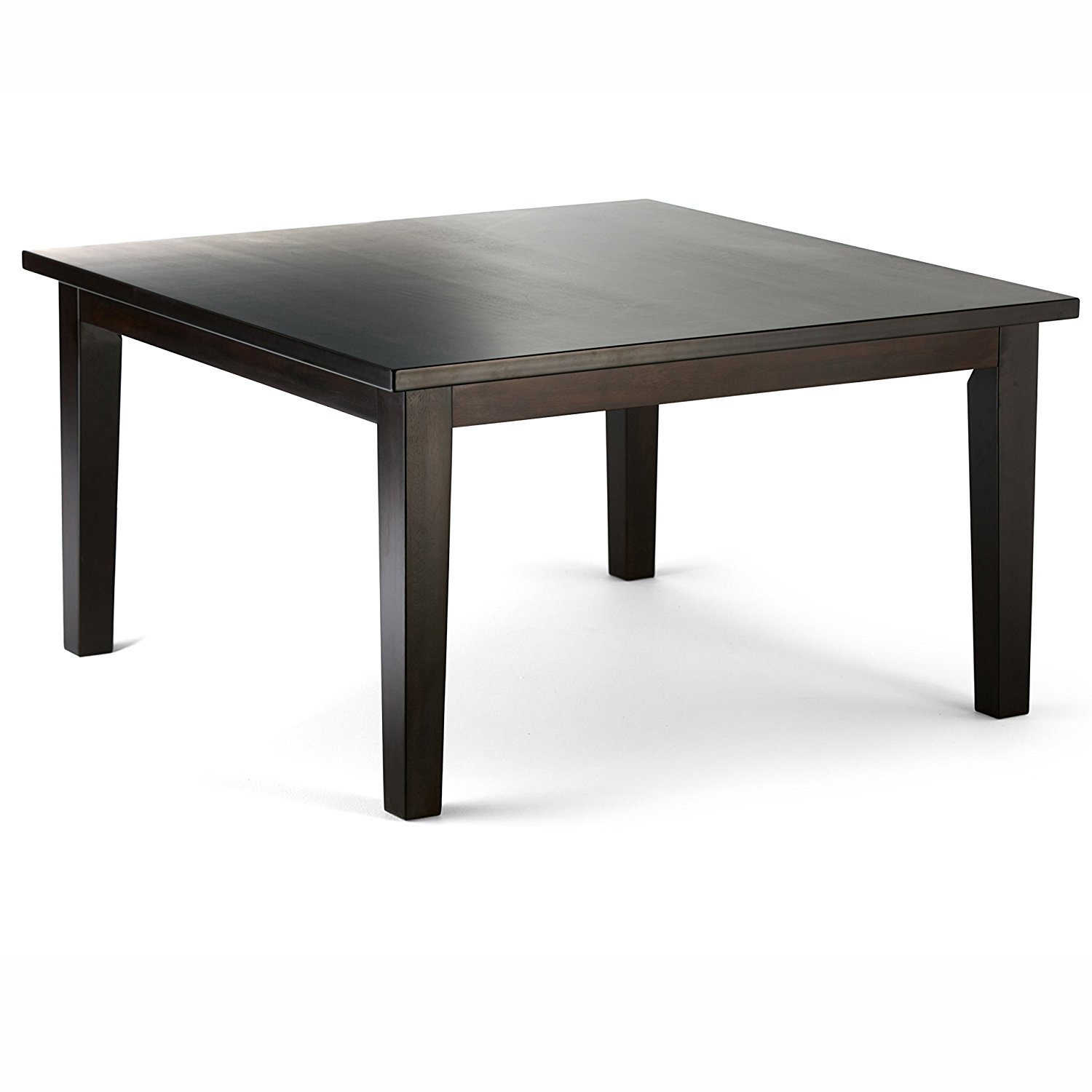 "Simpli Home Eastwood Square Dining Table, 54"" x 54"", Java Brown"