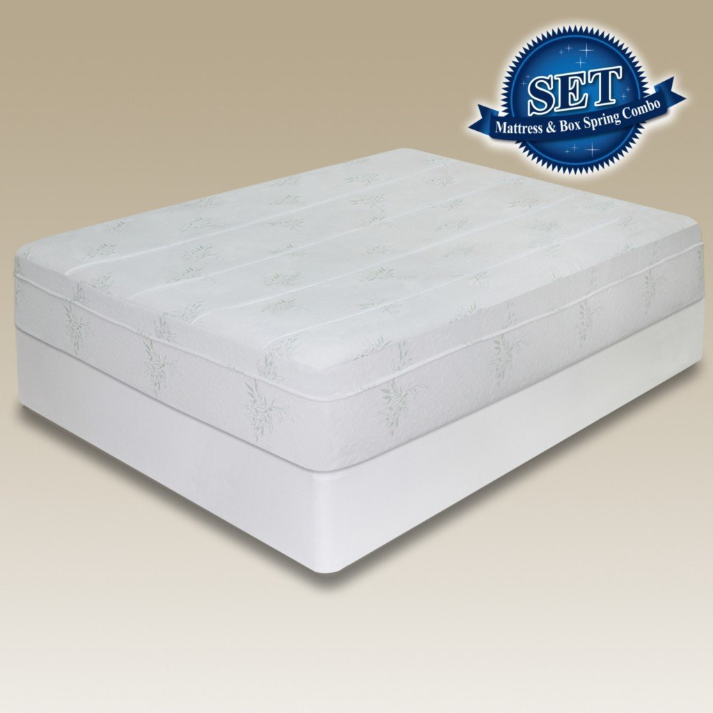 Sleep Master 10-Inch Pressure Relief Memory Foam Mattress Set with Bi-Fold Boxspring, Full