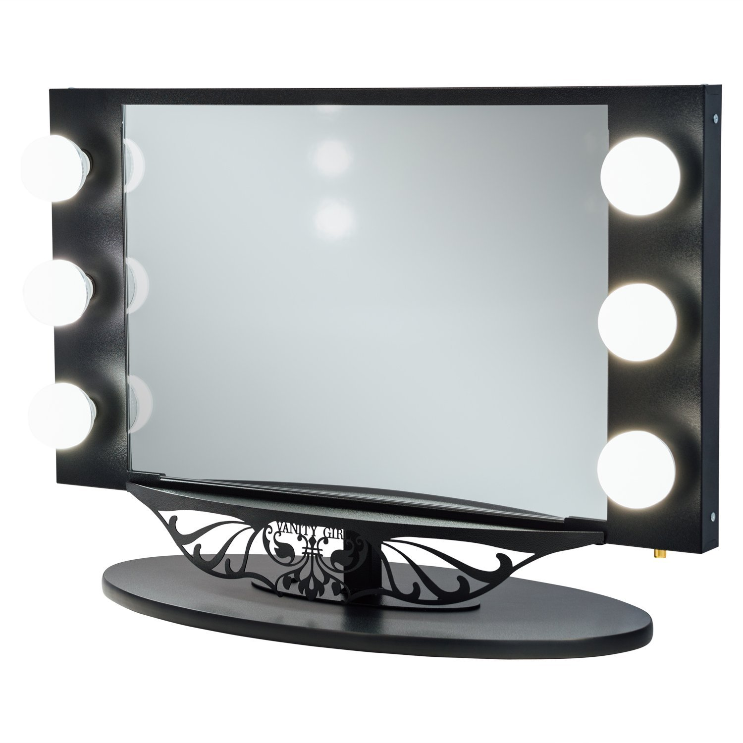 Starlet Lighted Vanity Mirror - Gloss Black
