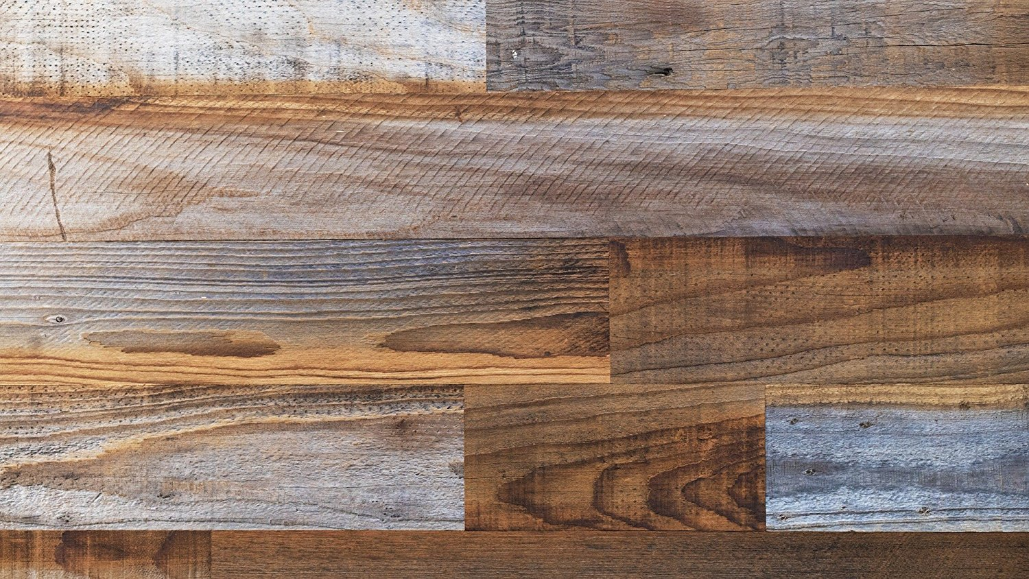 Stikwood Reclaimed Pine Wall Decor, Sierra Silver/Dark Brown