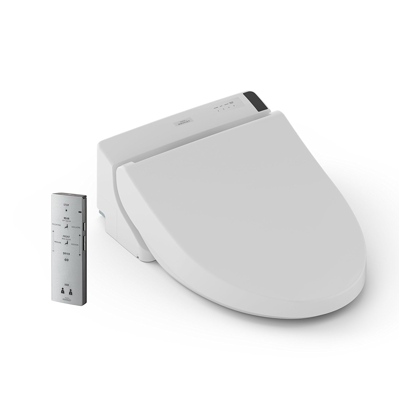 TOTO Washlet C200 Elongated Bidet Toilet Seat with PreMist, Cotton White - SW2044#01