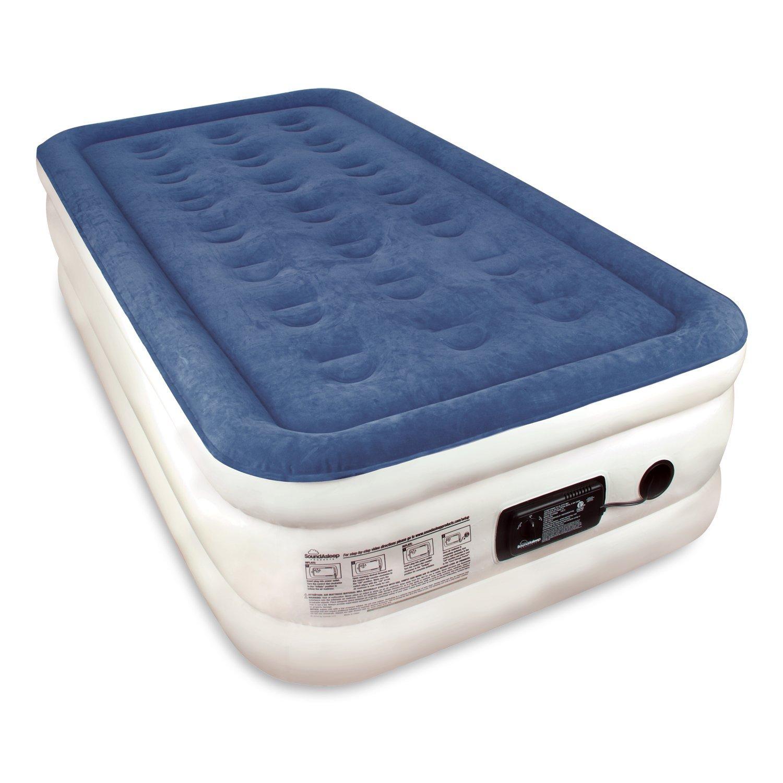 Twin Sized SoundAsleep Dream Series Air Mattress with ComfortCoil Technology & Internal High Capacity Pump