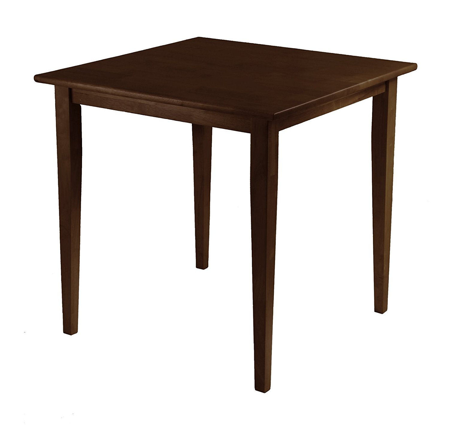 Winsome Wood Groveland Square Dining Table in Antique Walnut Finish