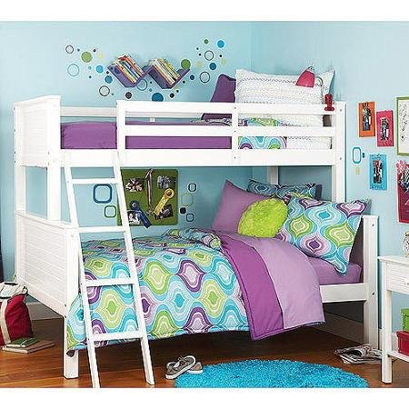 Your Zone Zzz Collection Twin-over-full Bunk Bed, White