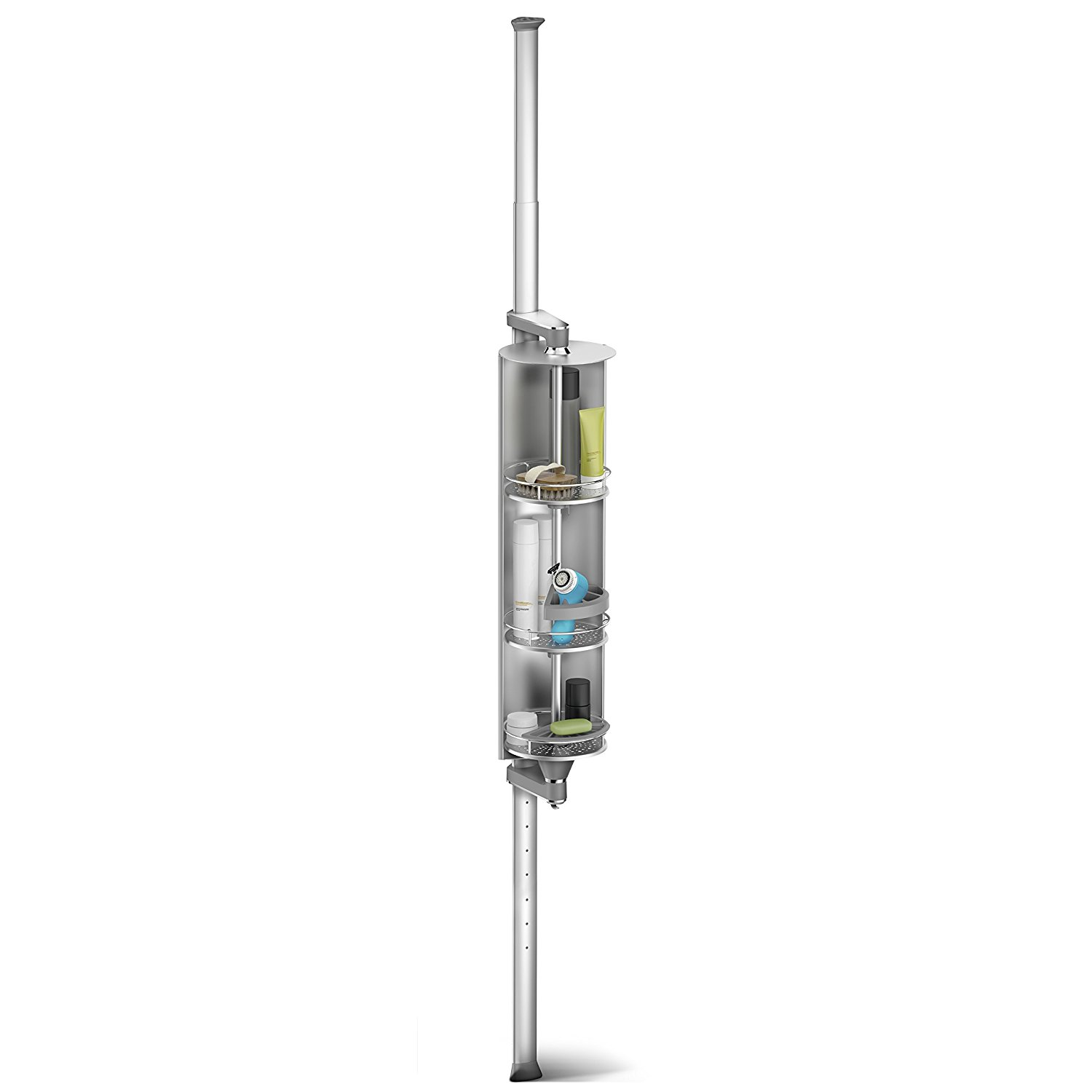 simplehuman Spin Cabinet Shower Caddy, Anodized Aluminum