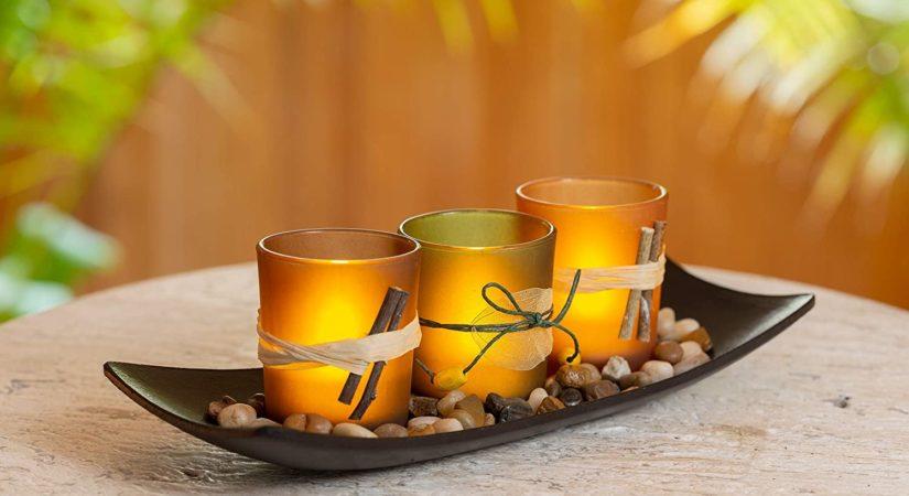 Dawhud Direct 3 Decorative Natural Candlescape Set