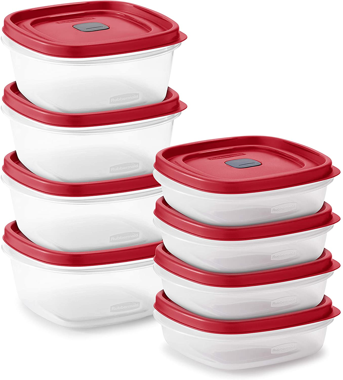 Rubbermaid Easy Find Vented Lids Food Storage, Set of 8 (16 Pieces Total)