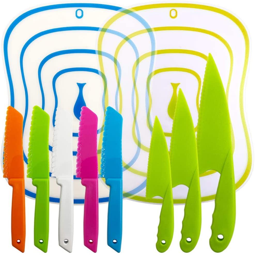 Sonku 10 Packs Kitchen Knife Set (Multi Colors)