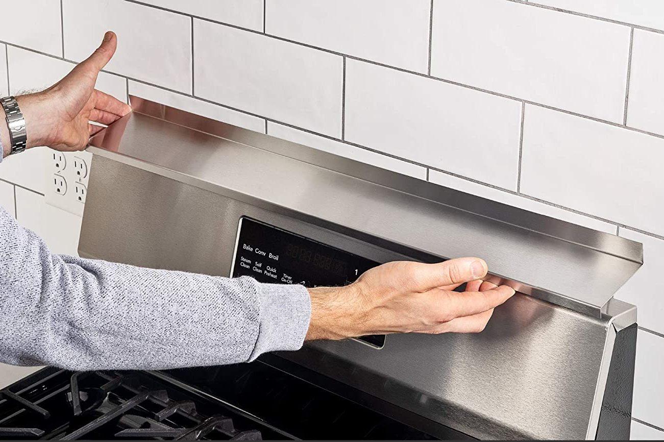 """StoveShelf Magnetic Shelf for Kitchen Stove (30"""" Length, Stainless Steel)"""