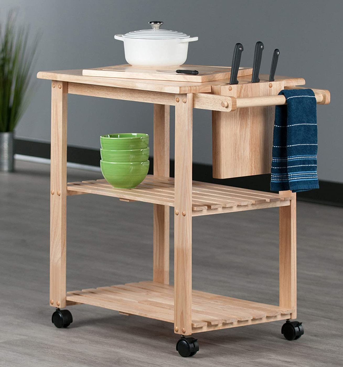 Winsome Wood Beech Finish Mario Kitchen (Natural)