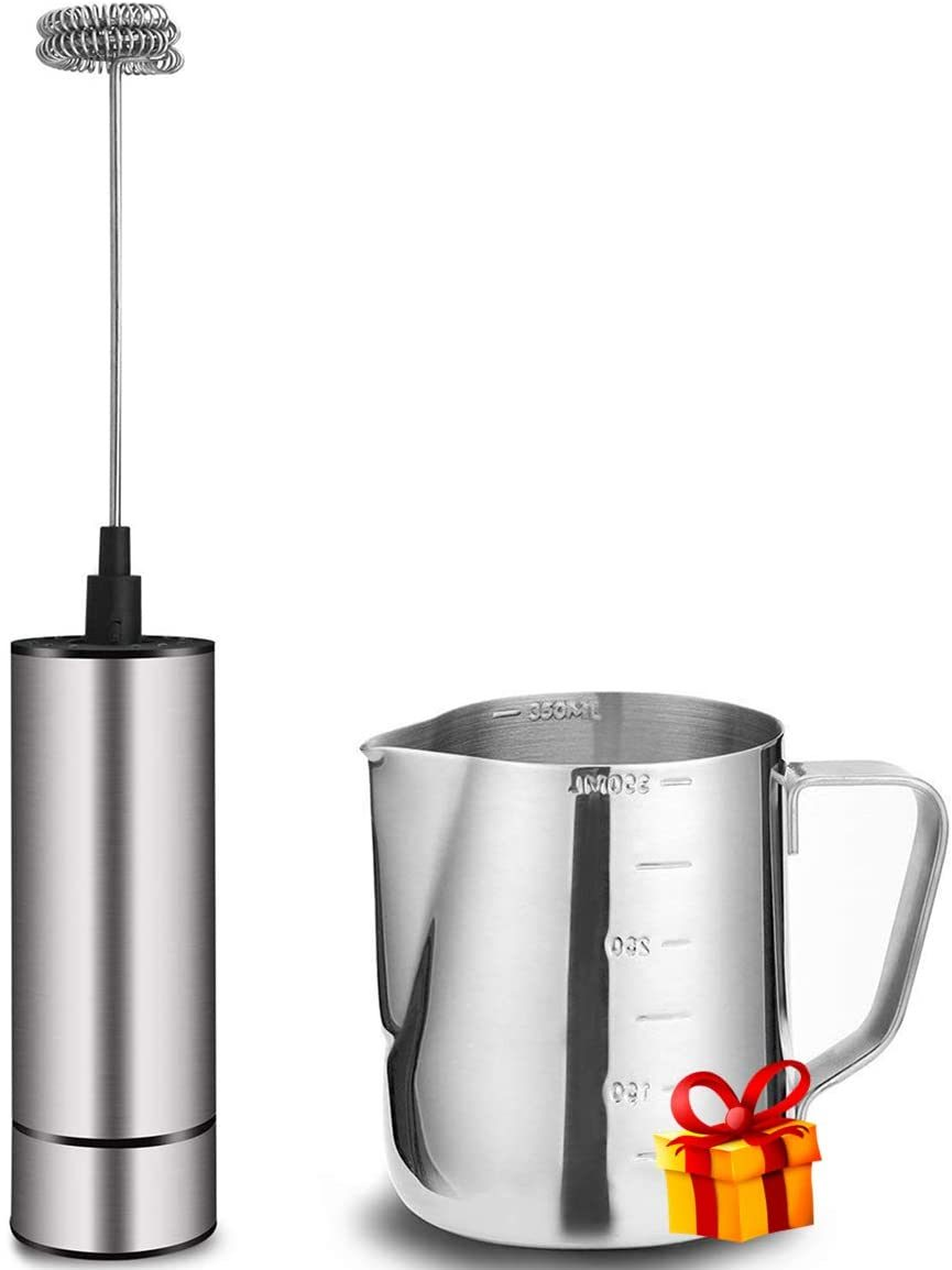 BASECENT Milk Frother Handheld Battery Operated
