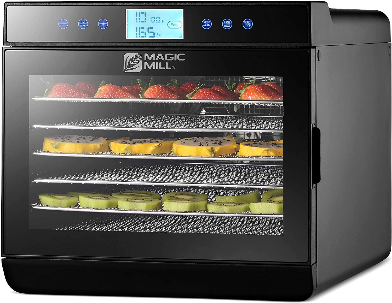 Magic Mill Food Dehydrator Machine with Digital Adjustable Timer