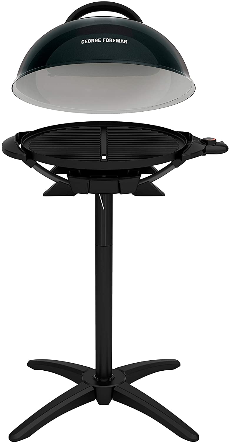 George Foreman Black Finish Indoor Outdoor Electric Grill