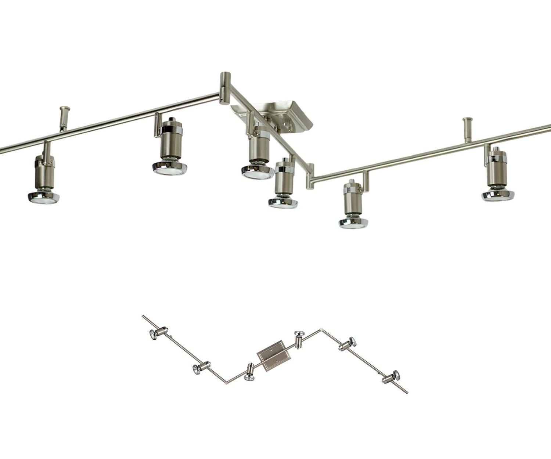 6 Light Track Lighting Ceiling Mount Spot Light Fixture