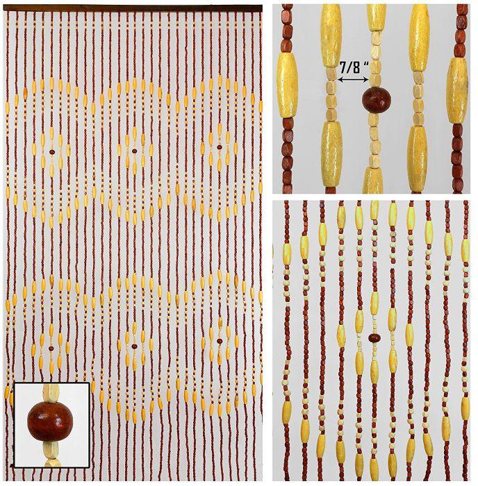 BeadedString Wood Beaded Curtains