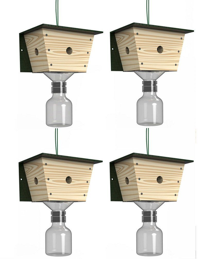 Best Bee Trap Carpenter Bee Trap - 4 pack