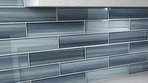 Bodesi Gentle Grey Glass Tile Perfect for Kitchen Backsplash or Bathroom
