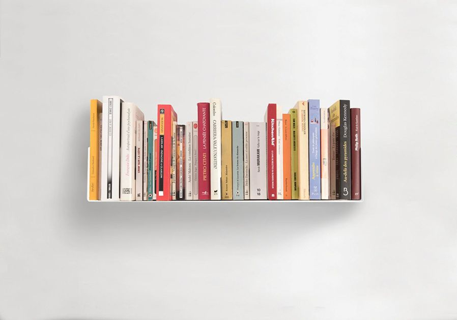 Bookshelves U White by TEEbooks