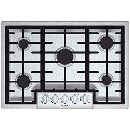 Bosch NGM8055UC 800 30 Stainless Steel Gas Sealed Burner Cooktop