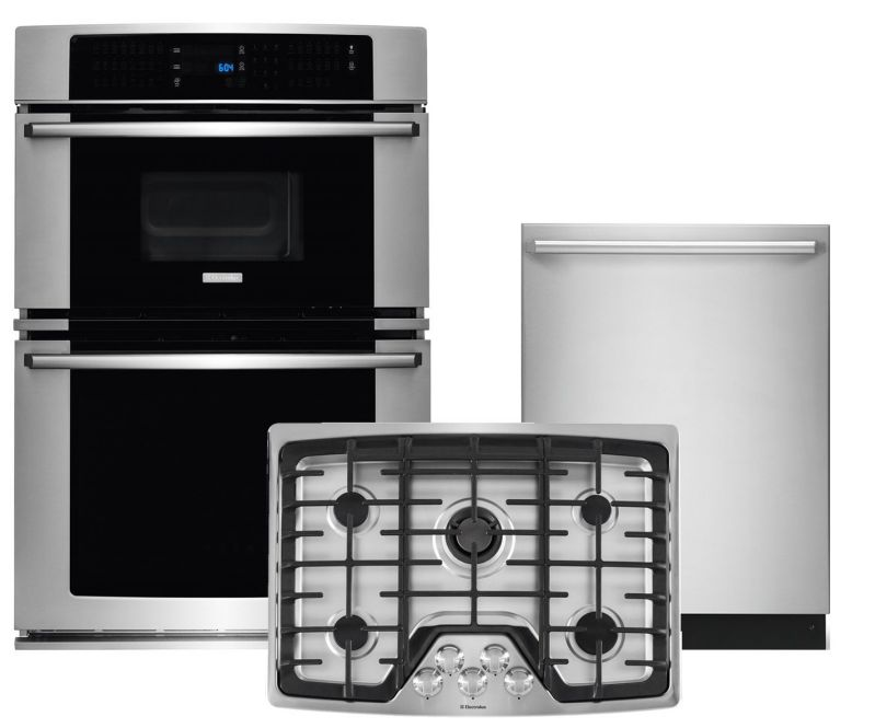 Electrolux Wave-Touch 3-Piece Stainless Steel Kitchen Package