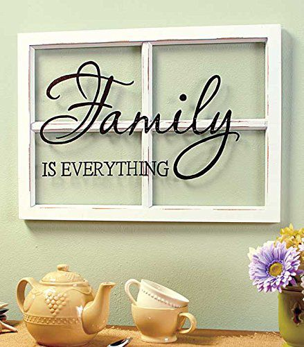 FAMILY White Wooden Window Pane Frame