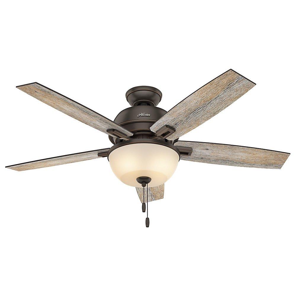 Hunter Fan Company 53333 Donegan Onyx Bengal Ceiling Fan with Light