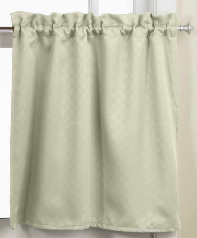 Lorraine Home Fashions Facets Room Darkening Blackout Tier Curtain Pair