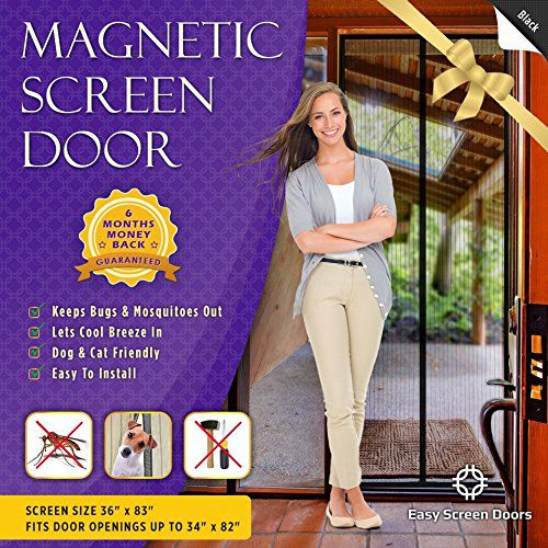 Magnetic Screen Door, Mesh Curtain - Mosquito Net Keeps Bugs Out, Lets Cool Breeze In