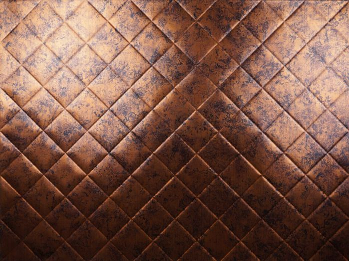 MirroFlex Backsplash Tile Mini Quilted Moonstone Copper