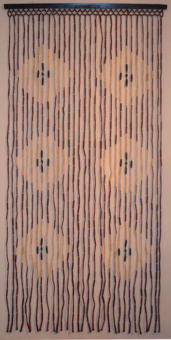 Natural Bamboo & Wood Beaded Curtain