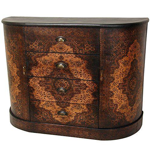 Oriental Furniture Olde-Worlde European Four Drawer Credenza