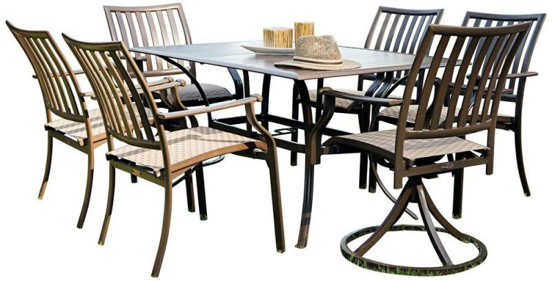 Panama Jack Outdoor Island Breeze 7-Piece Slatted Dining Group Set