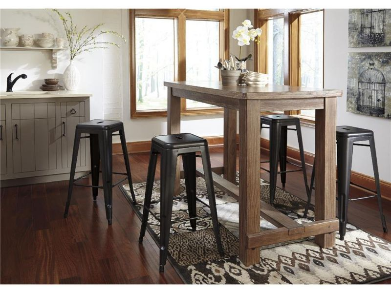 Signature Design by Ashley D542-12 Pinnadel Collection Dining Room Pub Table